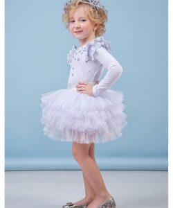 костюм для девочки на праздник, снежинка 8044 фотография