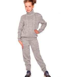 костюм для девочки подростка теплый вязаный 16311 фотография
