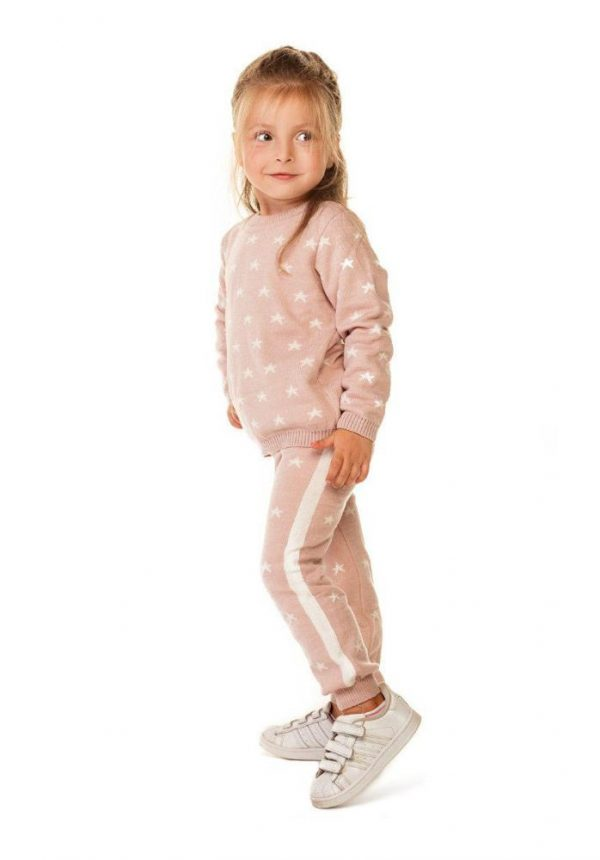 костюм для девочки вязаный звездочка розовый 16301 фотография