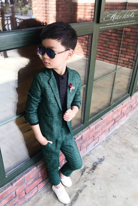 костюм для мальчика денди зеленый 2502192 фотография
