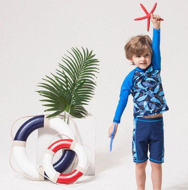 костюм пляжный для плаванья на мальчика 7113 фотография