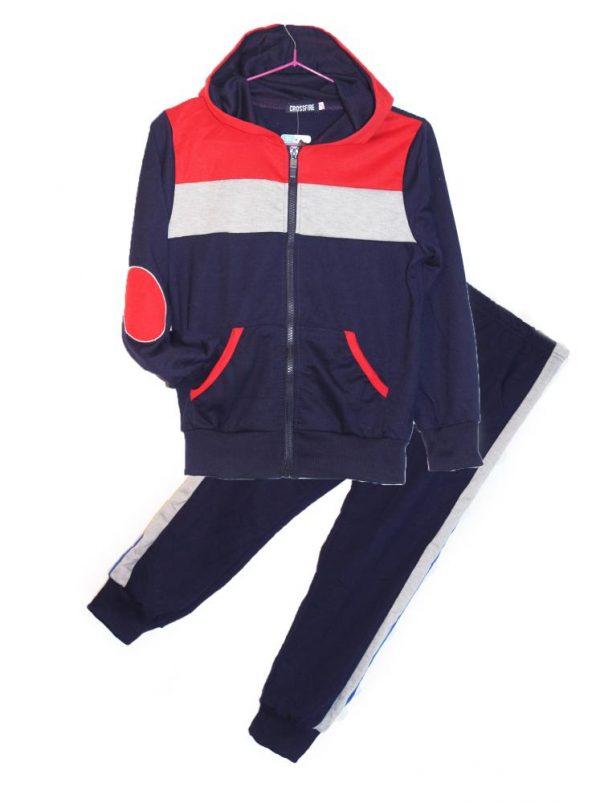 костюм спортивный на мальчика подростка темно синий 358358 фотография