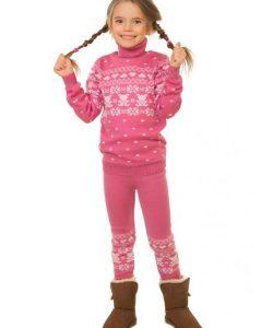 костюм вязаный на девочку зайка 1435 фотография