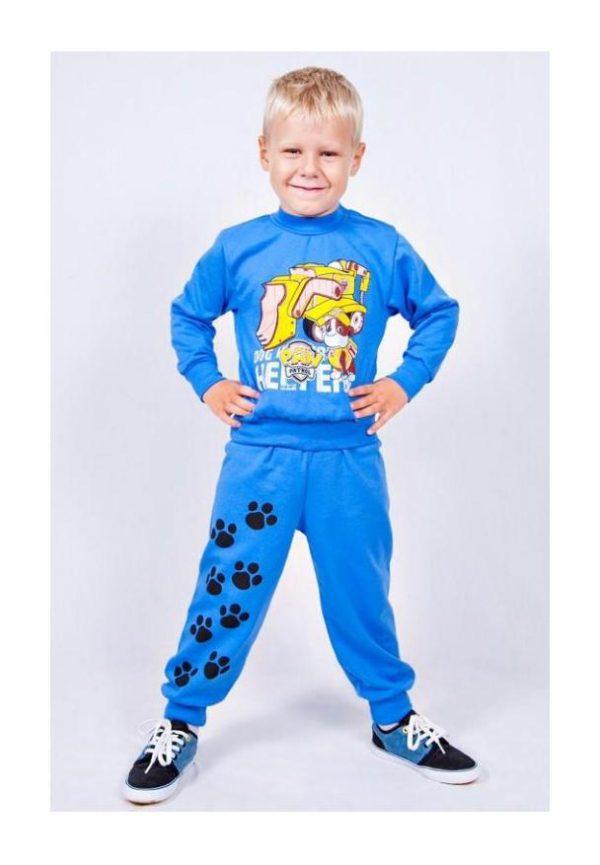 костюм детский на мальчика трикотажный утепленный 511162 фотография