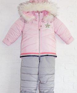 зимняя куртка с комбинезоном для девочки модняша 21019 фотография