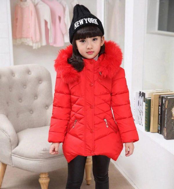 красивая куртка для девочки красная 2511162 фотография
