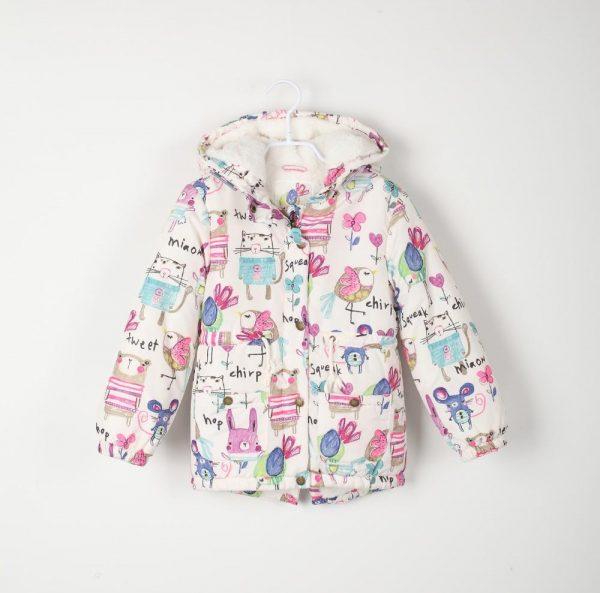 красивая демисезонная куртка для девочки весна осень 46621 фотография