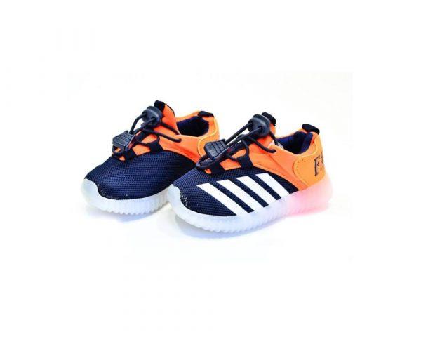 кроссовки детские для мальчика с подсветкой 2325-1 фотография