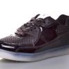 детские кроссовки аирмаксы черные со светящейся подошвой led подсветка 50517 фотография №1