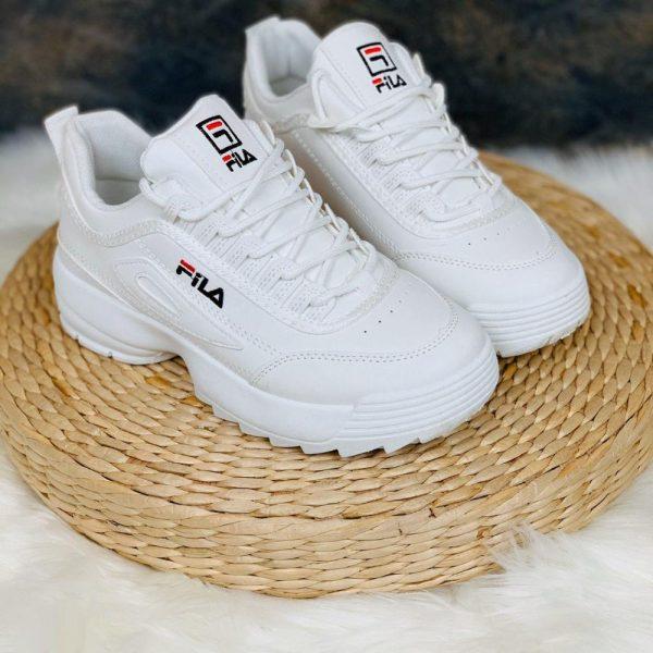 кроссовки фила со значком белые 190419 фотография