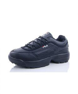 кроссовки фила со значком черные 270719 фотография