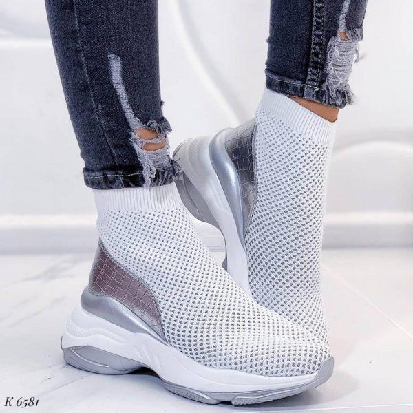 кроссовки носки белые 260220 фотография