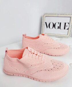 кроссовки женские сетка розовые 106191 фотография