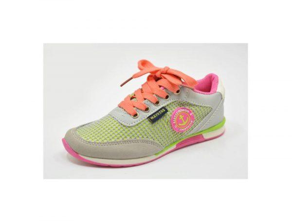 кроссовки легкие для девочки сетка 9159 фотография
