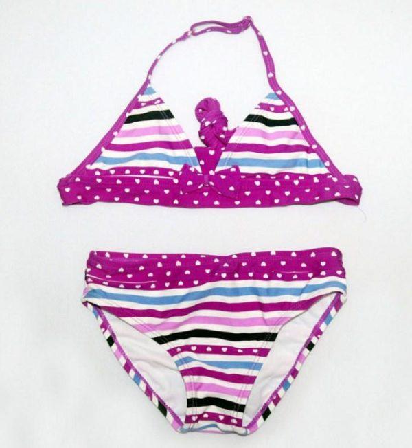 купальник детский раздельный для девочки, полосочка 1215 фотография