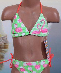 купальник детский раздельный для девочки розовый фламинго 9199 фотография