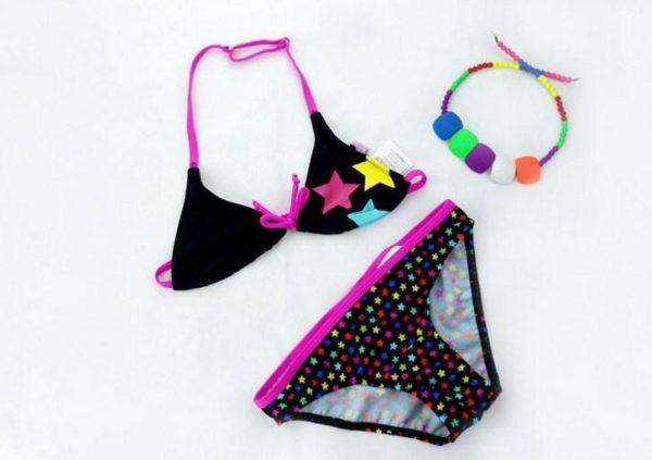 купальник детский раздельный для девочки подростка, звездочка 240116 фотография