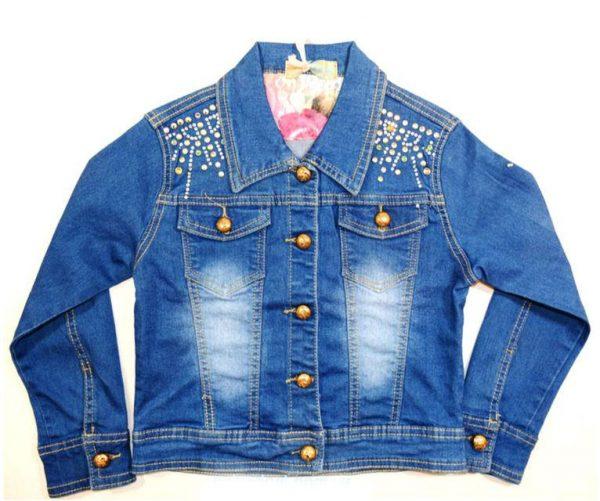 куртка джинсовая на девочку, подростковая 170516 фотография