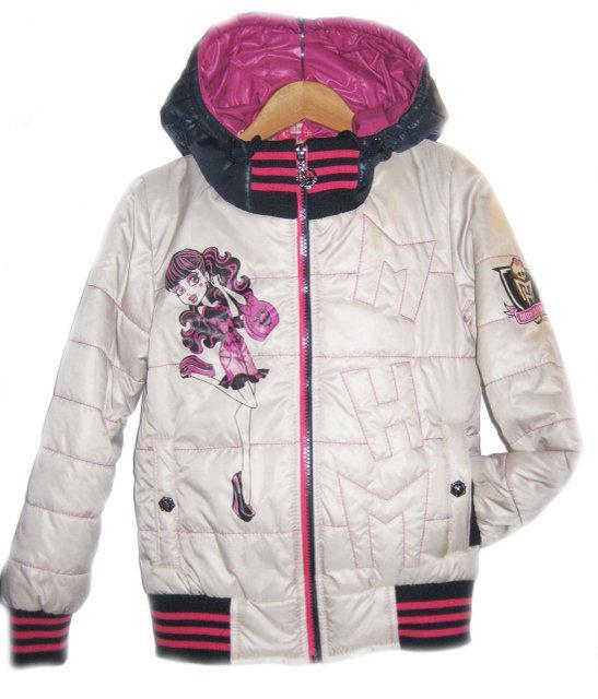 куртка на девочку весна осень монстер хай 180317 фотография
