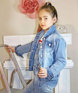 куртка на девочку джинсовая единорог 1699 фотография