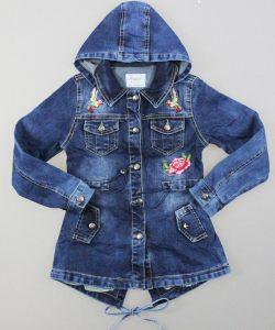 куртка на девочку джинсовая вышивка 89991 фотография