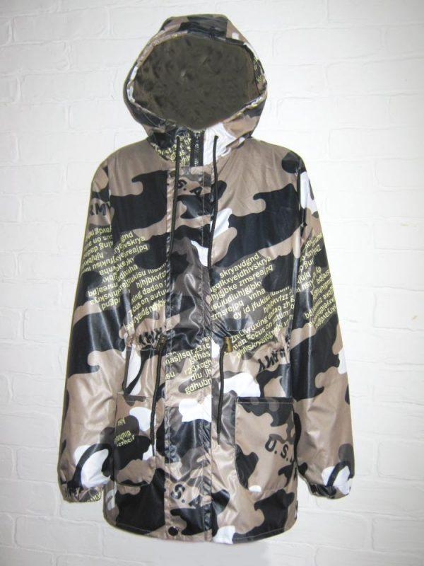 куртка ветровка для мальчика камуфляж, размер 128-164 40418 фотография