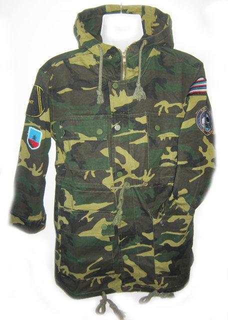 куртка ветровка для мальчика подростка в стиле милитари 33990 фотография