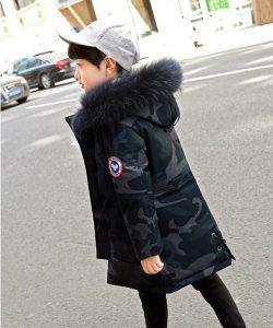 куртка зимняя для мальчика подростка, натуральный пуховик 3211 фотография