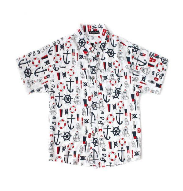летняя рубашка для мальчика, штурвал 50618 фотография