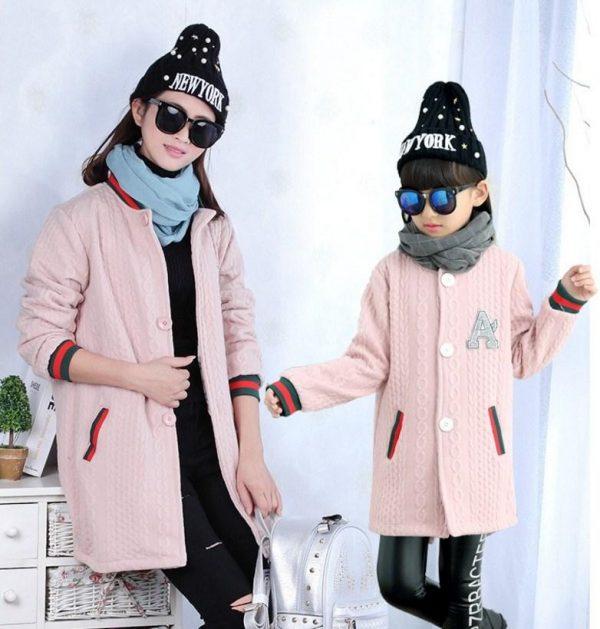 модное детское трикотажное пальто для девочек, бомбер 6977 фотография