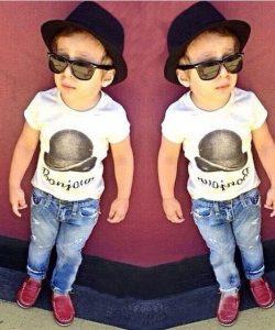 модный детский комплект для мальчика 1802168 фотография