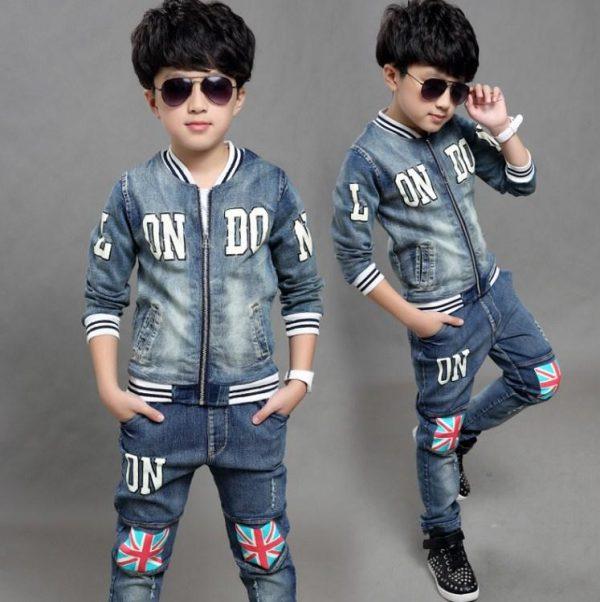 джинсовый костюм на мальчика лондон, размеры 110-160 165465 фотография