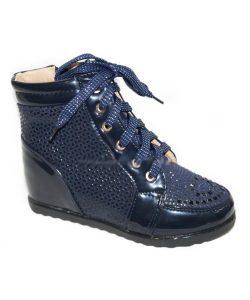 модные демисезонные ботинки для девочки, сникерсы 9521 фотография