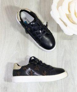модные туфли для девочки в спортивном стиле, черный 2306 фотография