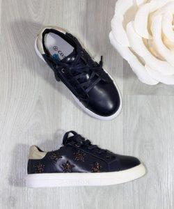модные туфли для девочки в спортивном стиле, синий 2308 фотография