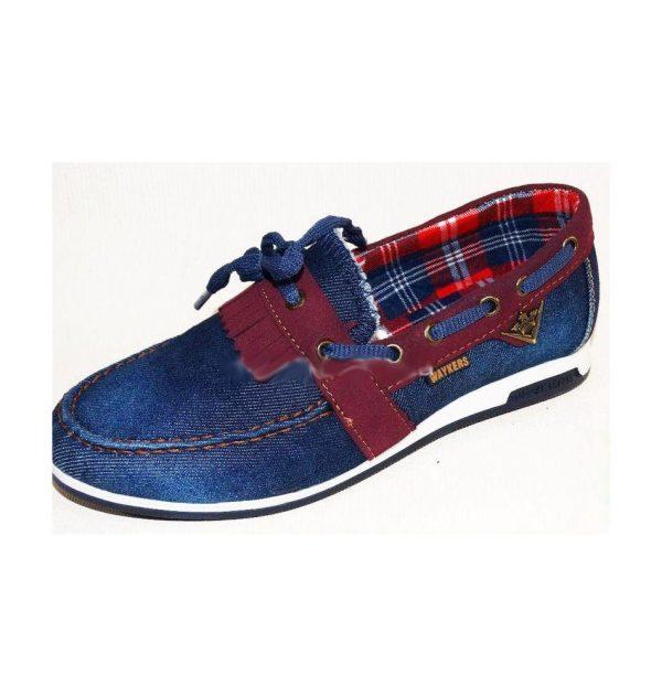 модные туфли джинсовые мокасины для мальчика 17 фотография