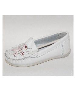 детские кожаные туфли мокасины для девочки 1716 фотография