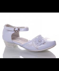 нарядные туфли для девочки белые 69-13 фотография