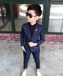 нарядный костюм для мальчика денди синий 2502191 фотография