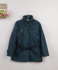 детское утепленное кашемировое пальто для мальчика под пояс 2101152 фотография