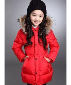 пальто на девочку зимнее красное 1211151 фотография