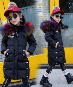 пальто зимнее для девочки микимен черное 2455 фотография