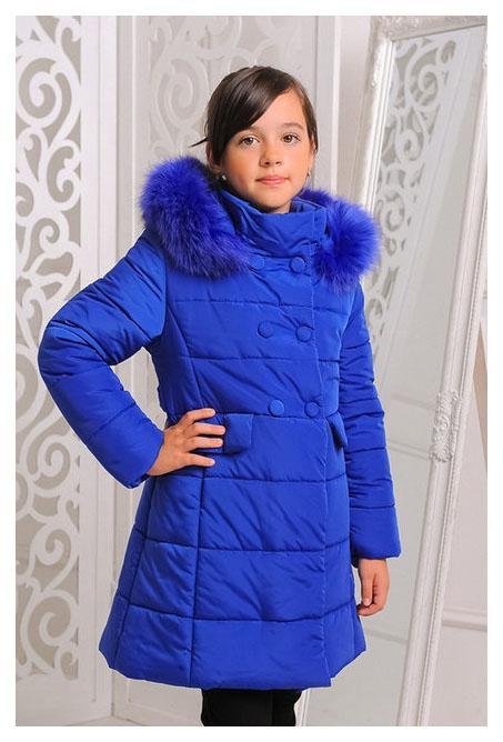 пальто зимнее на девочку ультрамарин, милла 2510161 фотография