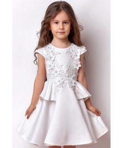 платье для девочки нарядное белые цветы 3066 фотография