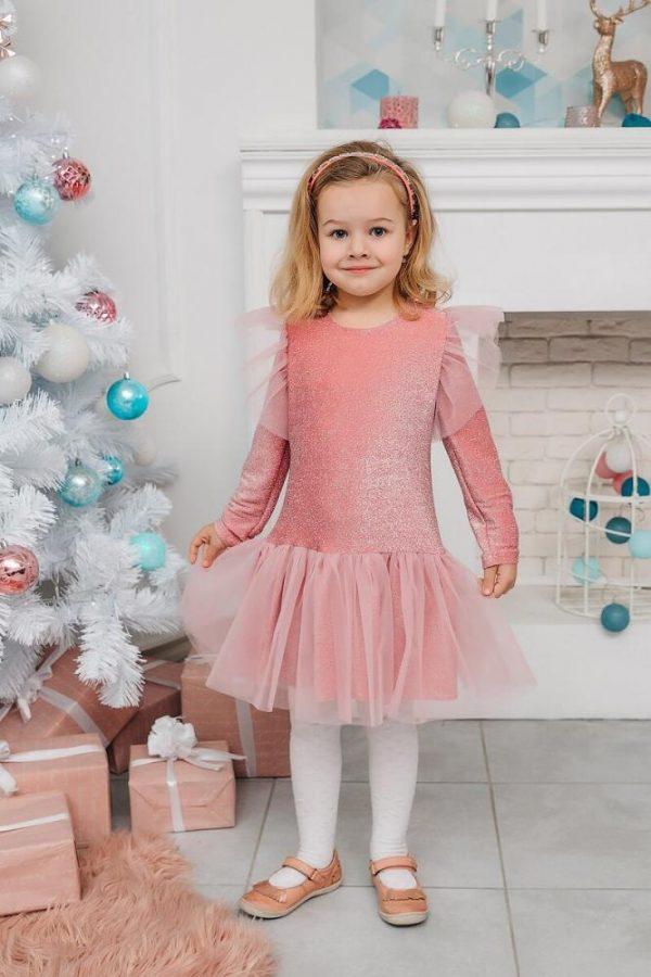 платье для девочки нарядное карина розовое 71521 фотография