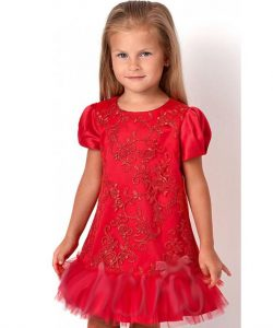 платье для девочки нарядное корал 2984 фотография