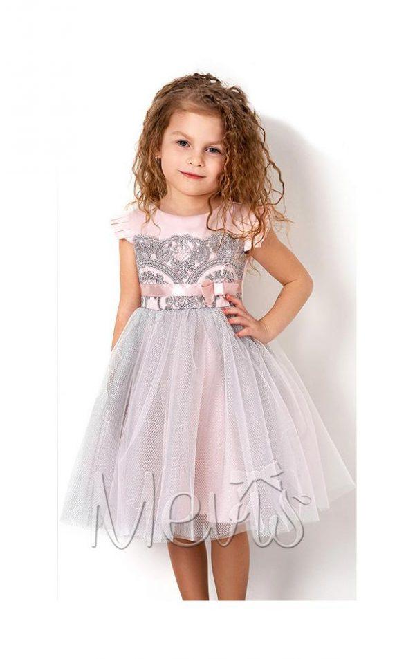 платье для девочки праздничное розовое кружево 2779 фотография
