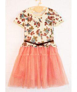 платье на девочку с пояском 6058 фотография