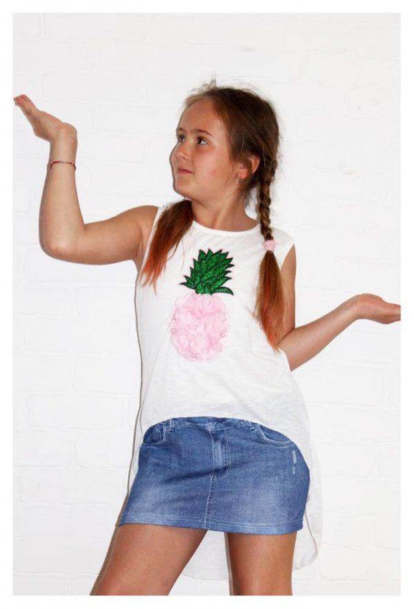 платье-обманка на девочку ананасик 52266 фотография