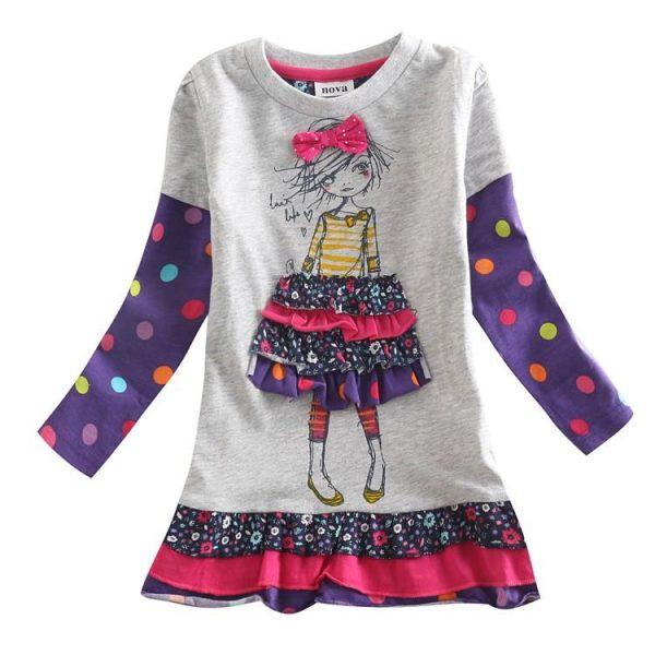 платье трикотажное для девочки, кукла 11015 фотография